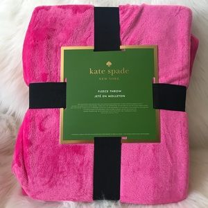 Kate Spade Pink Fleece Throw Blanket